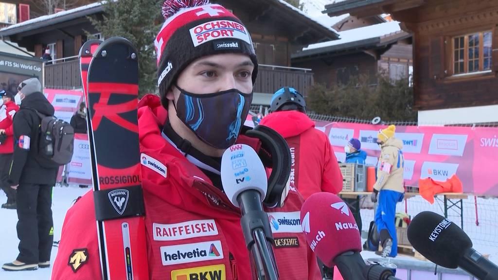 Loïc Meillard verpasst das Podest knapp: Österreicher Marco Schwarz gewinnt Slalom in Adelboden