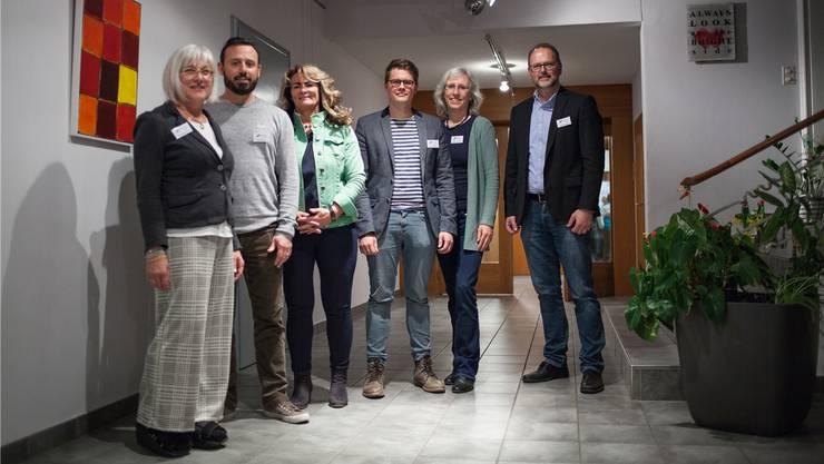 Vorstand und Leitung (v.l.n.r.): Präsidentin Therese Gautschi, Jozef Perkola, Pia Müller, Dominik Dössegger, Geschäftsführerin Marianne Schlegel und Raphael Huber.