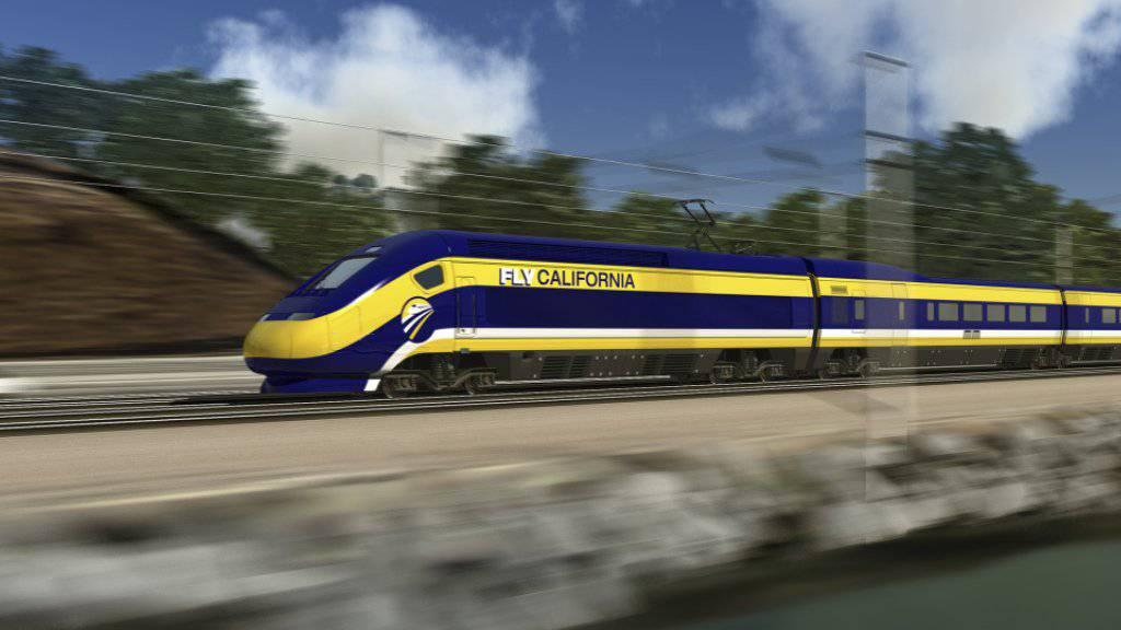 Soll deutlich kürzer werden: eine in Kalifornien geplante Hochgeschwindigkeitszugstrecke zwischen San Francisco und Los Angeles.