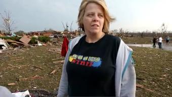 Eine Überlebende berichtet über den Tornado in Oklahoma