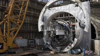 Impressionen von den Vorbereitungsarbeiten am neuen Bözbergtunnel