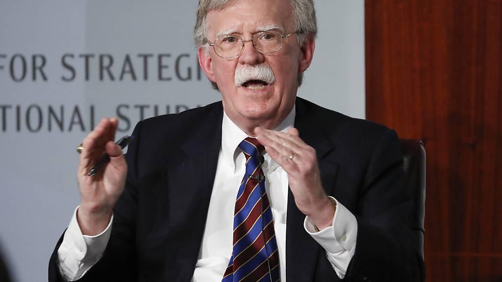Ex-Sicherheitsberater Bolton kritisiert Trumps Nordkorea-Strategie