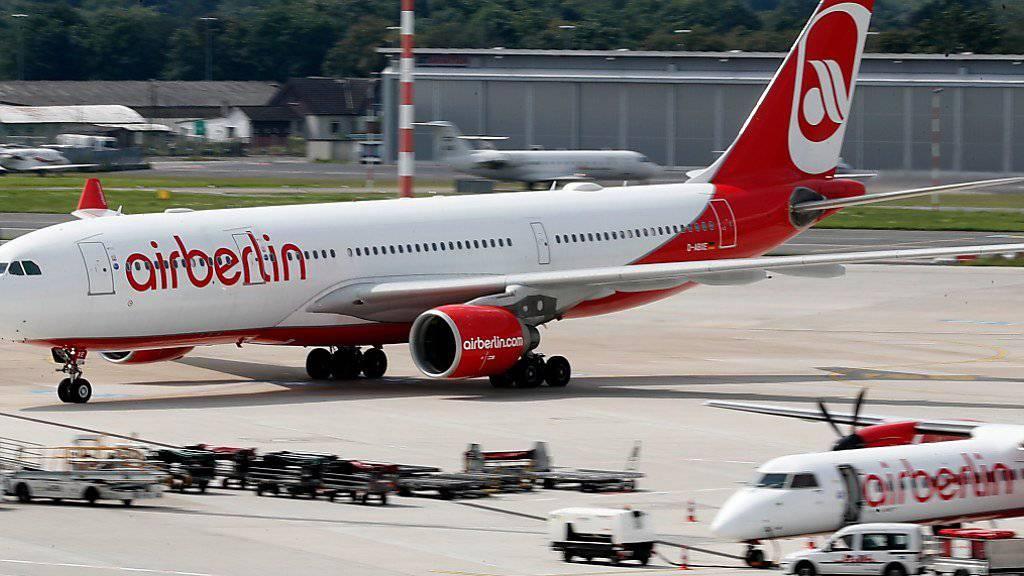 Erneut fallen viele Air Berlin-Flüge aus, auch ab Zürich.