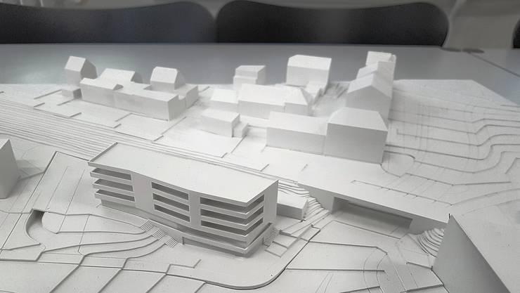 So sieht das Projekt für ein neues Geschäfts- und Wohnhaus auf dem Chantier-Areal aus.
