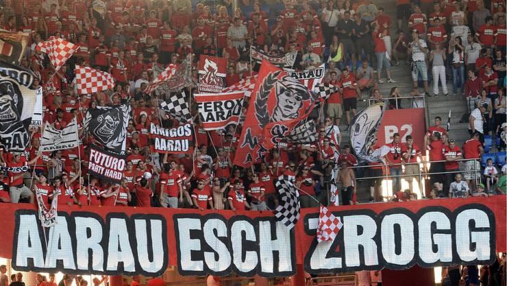 Die Aarau Fans müssen am Samstag mit Challenge League Tickets zum ersten Super League-Heimspiel seit drei Jahren.