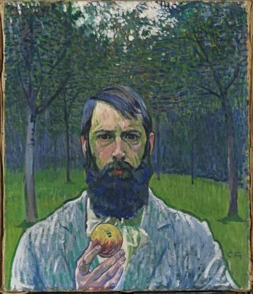 Selbstbildnis mit Apfel von Cuno Amiet, 1901/1902
