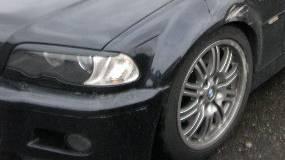 Am Unfall war ein schwarzes BMW beteiligt (Symbolbild)