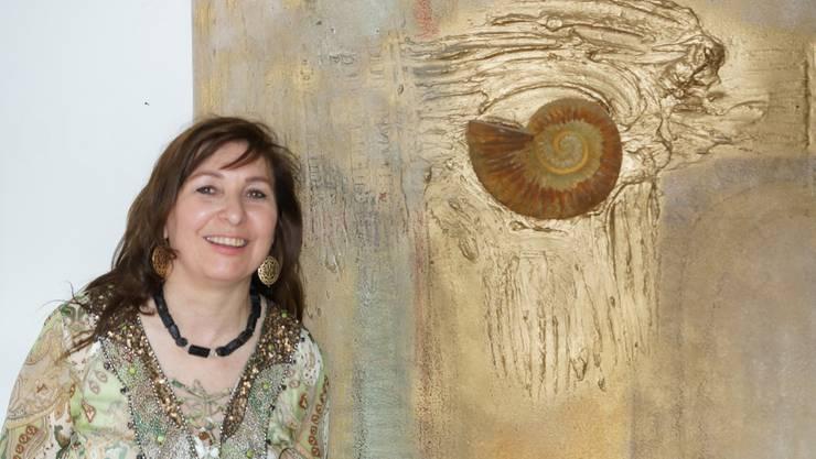«Waves of Inspiration»: Jacqueline Imboden präsentiert ihre Bilder. ubu