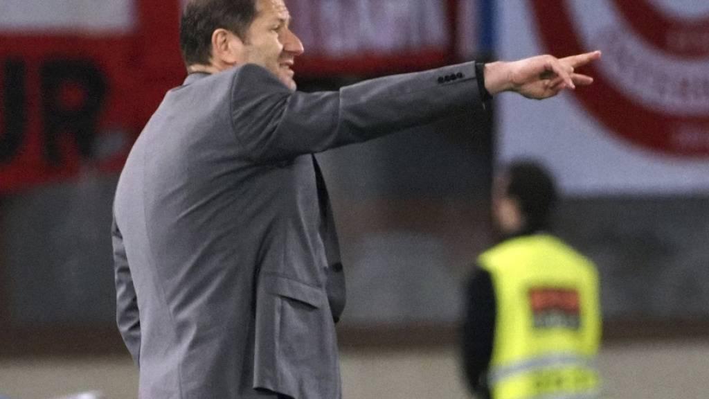 Österreichs Nationaltrainer Franco Foda steht mit seiner Mannschaft kurz vor der EM-Qualifikation