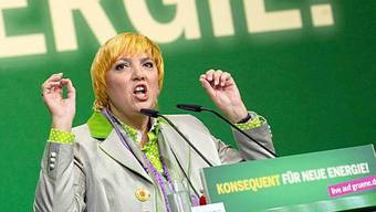 Grünen-Chefin Claudia Roth am Sonderparteitag in Berlin