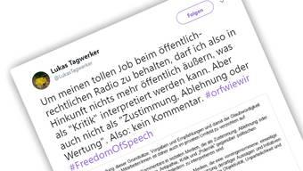 Dieser Tweet vom ORF-Journalist Lukas Tagwerker löste eine Diskussion aus.