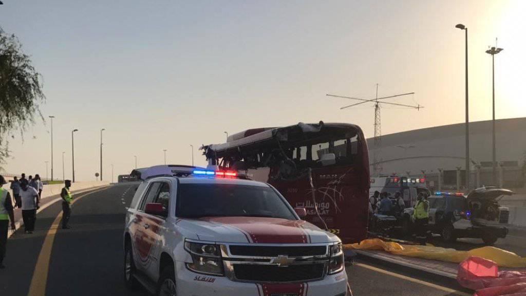 Busunglück in Dubai: Zahlreiche Menschen haben ihr Leben verloren.