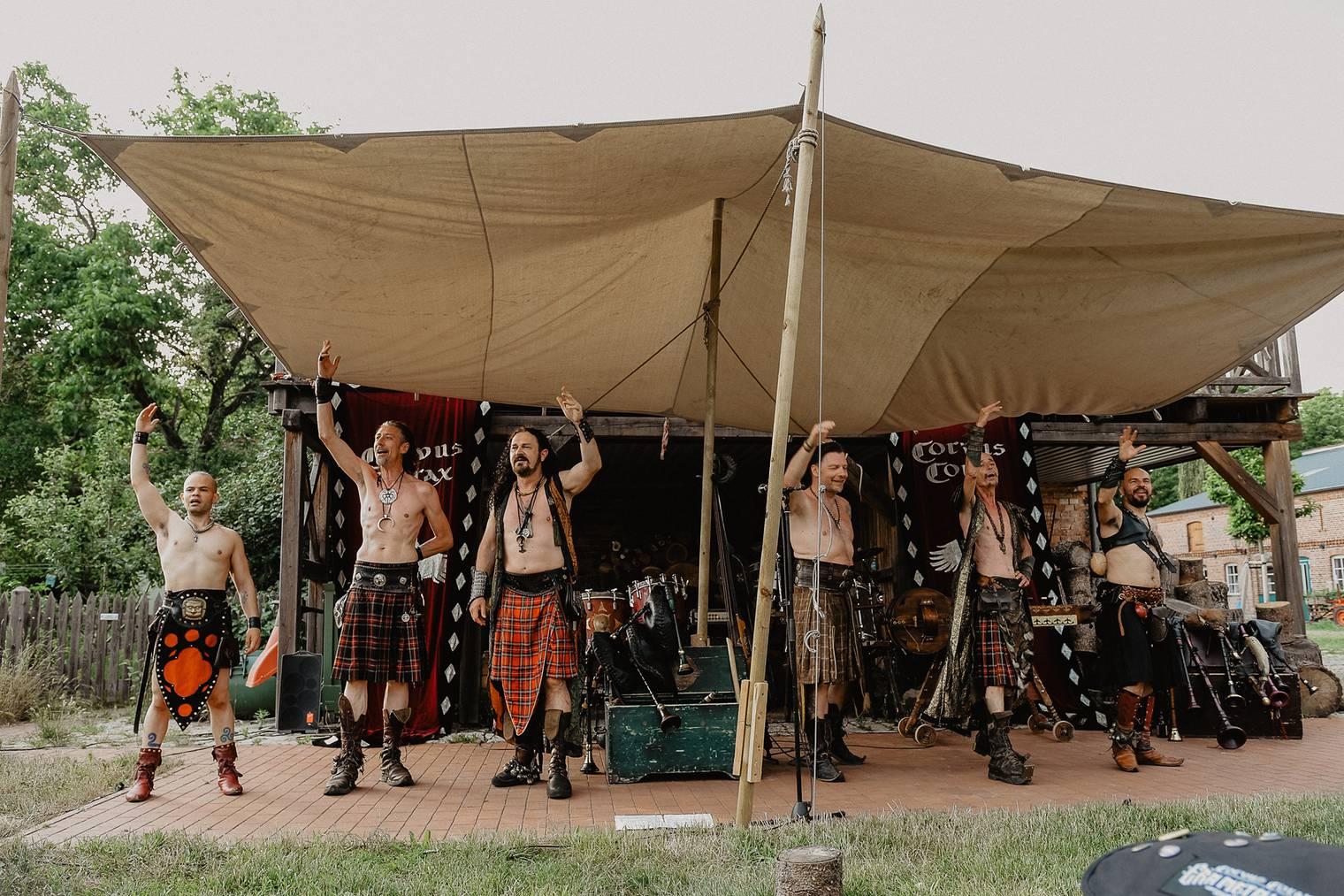 Die Band Corvus Corax spielt am Freitag- und Samstagabend.