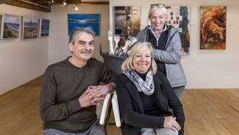 Nach einem Jahr Arbeit: Giuseppe Mele, Uschi Huwiler und Renata Hägni eröffnen am Samstag ihre Galerie.