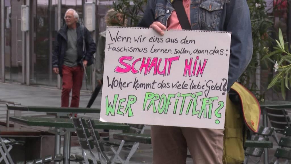 Corona-Demonstrationen: Deutlich weniger Lockdown-Gegner auf der Strasse