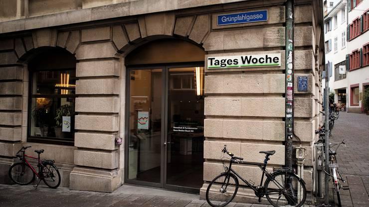 «Tageswoche»-Sitz an der Grünpfahlgasse in der Basler Innenstadt.