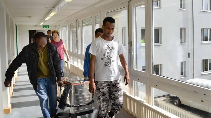 Selber kochen statt Catering vom Bürgerspital: Im Fridau-Anbau Ost werden bald Kochherde eingebaut.