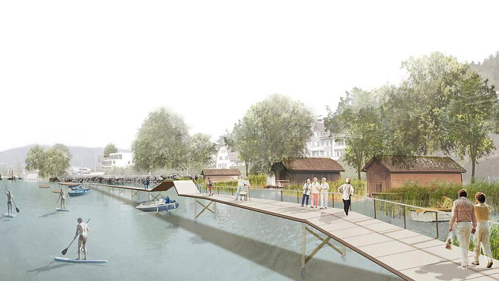 Unter- und Oberägeri planen neuen Seeuferweg