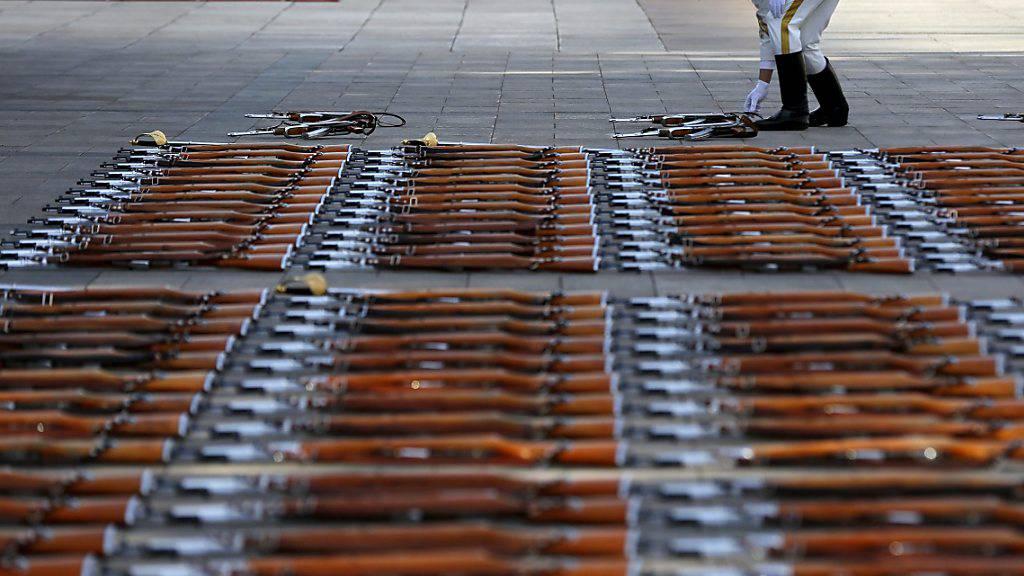 China tritt Uno-Vertrag über Waffenhandel bei