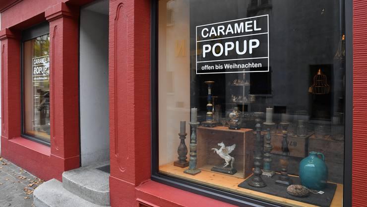 Die Weihnachtsboutique als Pop-up-Laden am Klosterplatz.