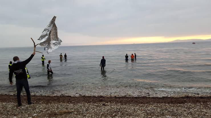 Sabatini war im Januar auf Lesbos, um Bootsflüchtlingen bei der Ankunft zu helfen.