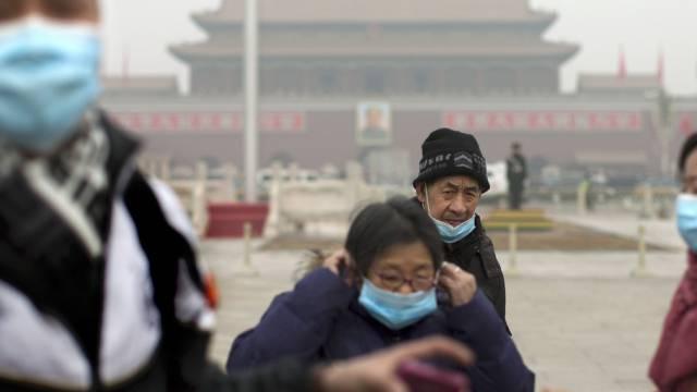 In Peking herrscht schon wieder Smogalarm (Archivbild)