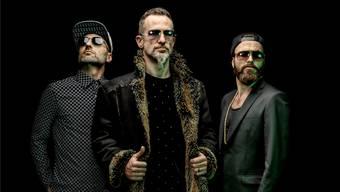 Die Band The next Movement mit (v. l.) Pascal Kaeser (Bass, Vocals), J. J. Flueck (Vocals, Drums) und Sam Siegenthaler (Gitarre, Vocals).