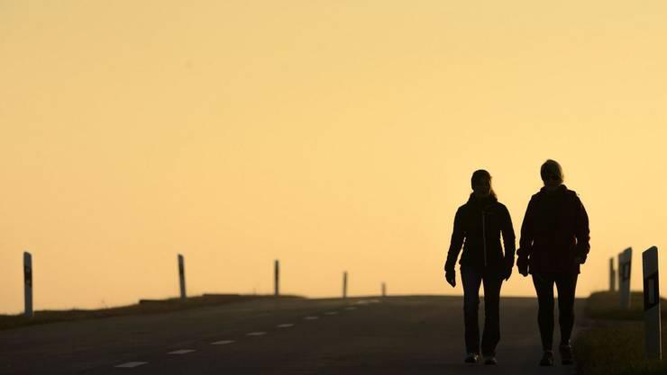 Fussgängerinnen verirrten sicha auf Autobahn (Symbolbild).