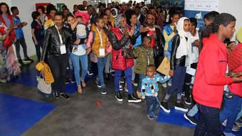 Flüchtlinge am Römer Flughafen: Europa sucht nach einer gemeinsamen Asylpolitik.