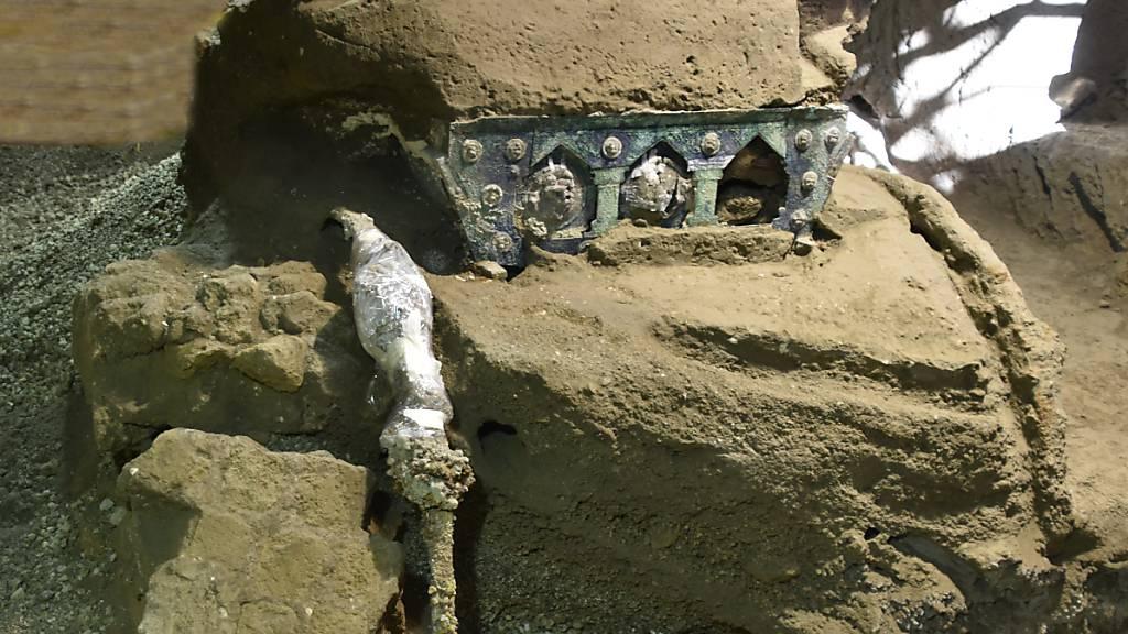 Triumphwagen mit erotischen Abbildungen in Pompeji ausgegraben