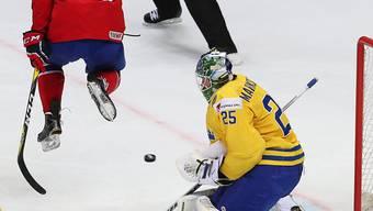 Norwegen sorgte im Finish für viel Verkehr vor dem schwedischen Goal und holte beinahe ohne Goalie noch ein 1:3 auf