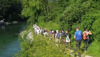 az-Leserwandern dreizehnte Etappe: Von Baden nach Untersiggenthal