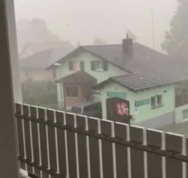 Hagel in Hirschthal