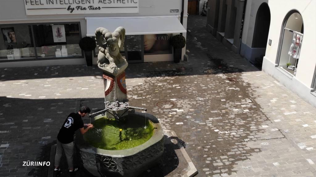Chur lässt zur Abkühlung Brunnen überlaufen