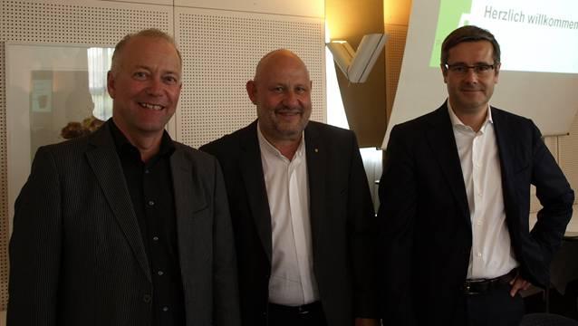 Hauptdarsteller: von links Martin Wey, Max Berger und Benvenuto Savoldelli