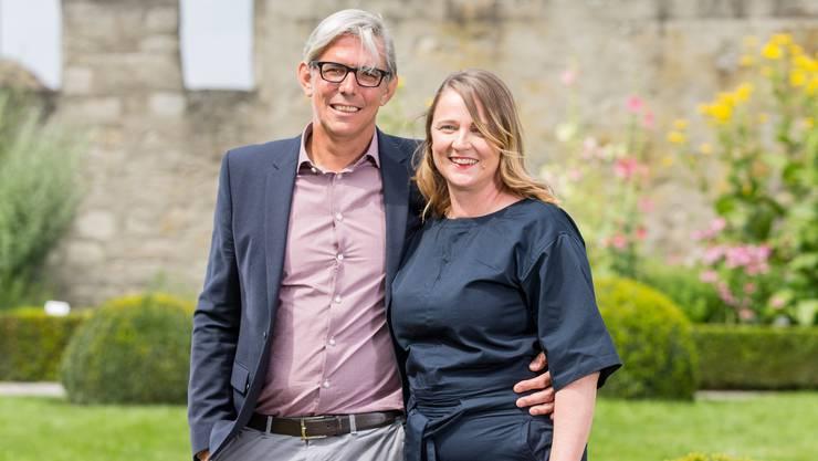 Christine Ziegler und René Marty lösen Peter und Renate Jud als Verwalter des Schloss Lenzburg ab.