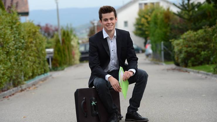 Glenn Steiger eben noch in Bättwil – und jetzt schon als jugendlicher Schwarzbuben-Politiker in Strassburg.