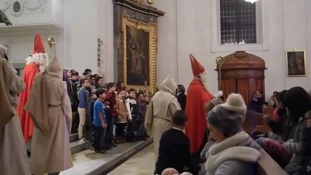 Aussendung des Samichlauses in der Eusebiuskirche in Grenchen