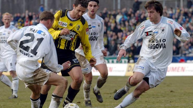 Bei GC ausgebildet, spielte Stephan Keller (r.)  später für Xamax, Kriens, Zürich, Aarau, Erfurt, Waalwijk, De Grafschaap, Sydney und Willem II Tilburg.