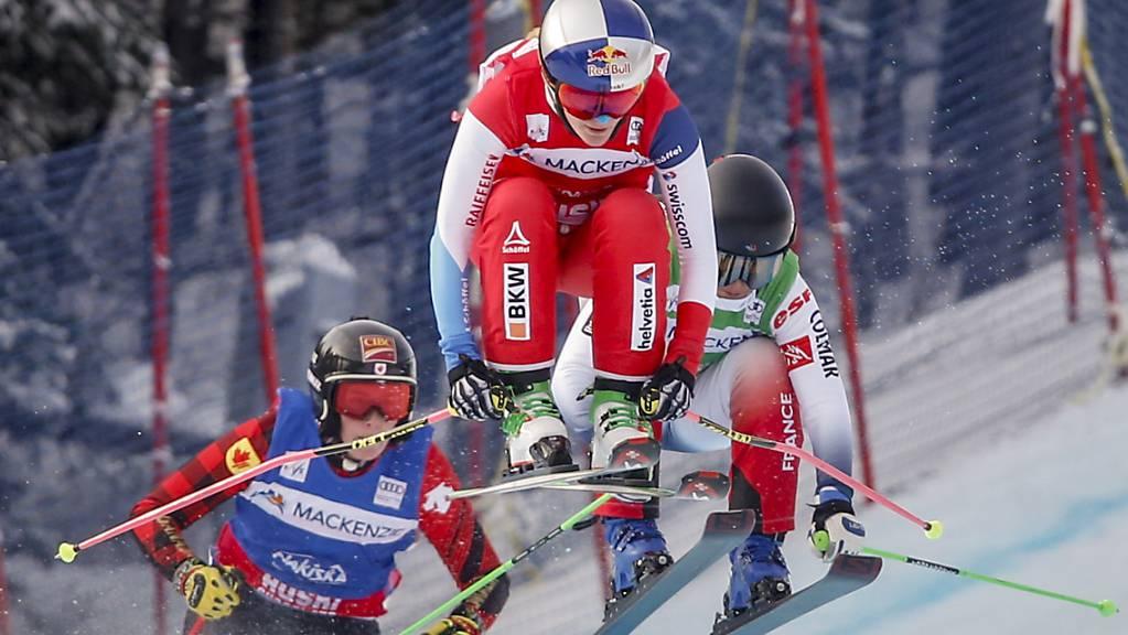 Fanny Smith erreichte in Arosa ihren 47. Weltcup-Podestplatz