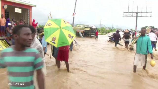 Bundesratsjet hilft Haiti