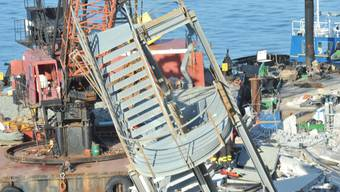 Ein Bild der Verwüstung: Hafen von Genua nach dem Unfall vor vier Jahren (Archiv)
