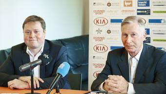 Der designierte FCA-Präsident Philipp Bonorand (links) mit Noch-Klubboss Alfred Schmid