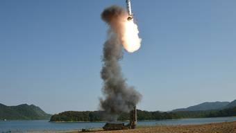 Im Meer vor Japan gelandet: Nordkorea schiesst erneut eine Rakete ab. (Archivbild)