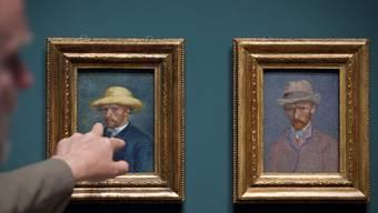Bilder von Vincent van Gogh im Van Gogh-Museum in Amsterdam. Das Museum verzeichnete 2015 einen Publikumserfolg (Archiv)