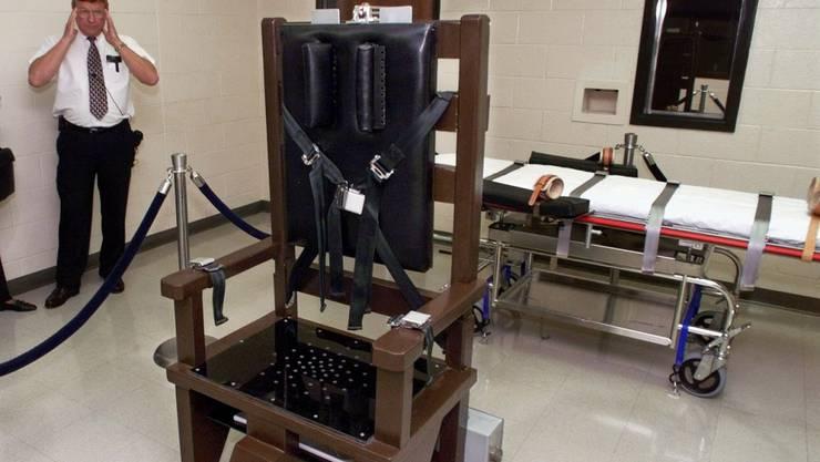 Ein elektrischer Stuhl im Hochsicherheitsgefängnis Riverbend in Nashville im US-Bundessaat Tennessee. (Archivbild)