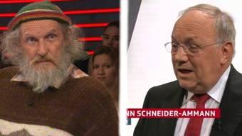 Initiant Armin Capaul und Bundesrat Johann Schneider-Ammann treten gegen einander an.