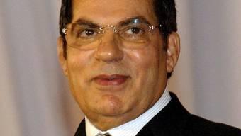 Der ehemalige Machthaber Tunesiens, Zine El Abidine Ben Ali auf einem Bild von 2008