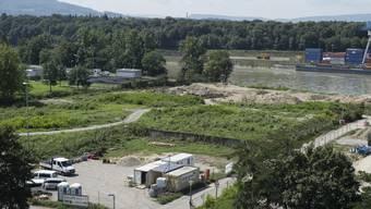 Blick auf das BASF Gelände mit der Kesslergrube