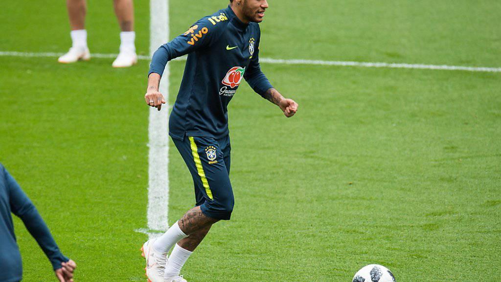 Neymar arbeitet im Kreis des Nationalteams an seiner Rückkehr ins Wettkampfgeschehen